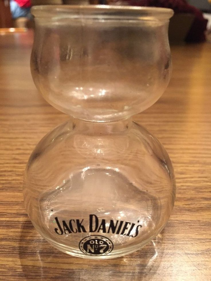 JACK DANIELS Old No 7 Whiskey Double Bubble Shot Chaser Jigger Glass #JackDaniels