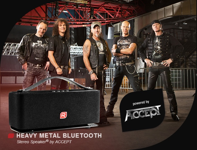 RAIKKO HEAVY METAL Bluetooth® Stereo Speaker powered by ACCEPT