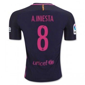 Barcelona 16-17 Andres Iniesta 8 Bortatröja Kortärmad   #Billiga  #fotbollströjor