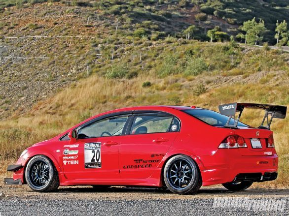 Check out Ken Suen's 2008 Honda Civic Si. Built by the guys over at Sport Car Motion to dominate time attack events, this FA5 features a Mugen FD2 RR replica bodykit, a K20Z3 engine, a Voltex Type 4 GT wing, JDM tailights and headlights, Volk wheels, and more! - Honda Tuning Magazine