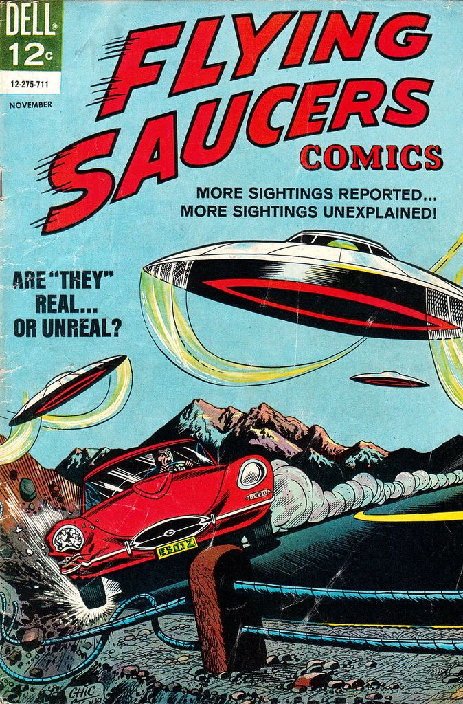 ufo flying saucers comic book