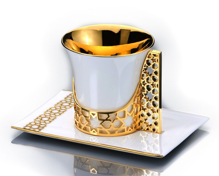 ARABESQUE COFFEE / TEA CUP AND SAUCER GOLD