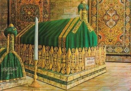 Blessed Grave of The Holy Prophet Muhammad(May Peace and Blessings be upon Him) in Medina!