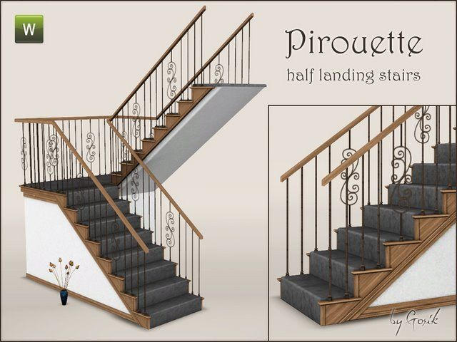 Pirouette Stairs By Gosik Source Sims Sims 4 The Sims 4 Packs
