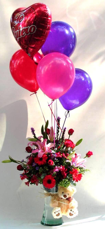 Flores, peluche y globos.... el regalo ideal para este 14 de febrero!