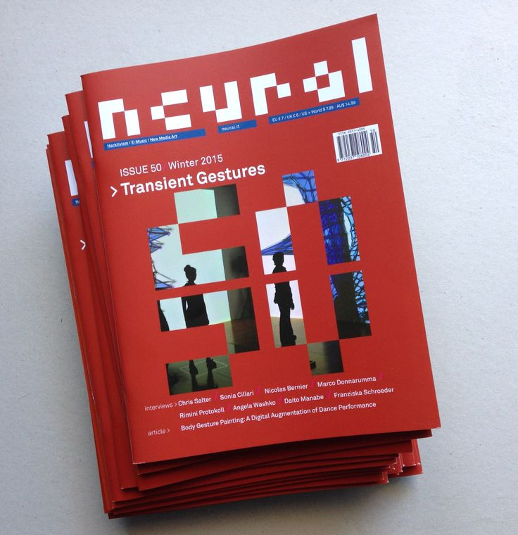 """""""Transient Gestures"""" (Neural #50) is still available! http://neural.it/2015/07/neural-50-transient-gestures/ Subscribe now! 3 issues + extra http://neural.it/subscribe/ . . . . . . . . . . . . . . . . . . . . . . . . . Digital Subscription (accessing all issues since #29), 16.50 Pound Sterlings http://www.exacteditions.com/neural . . . . . . . . . . . . . . . . . . . . . . . . ."""