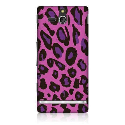Head Case Exotic Pink Leopard Hard Back Case Cover for Sony Xperia U ST25i