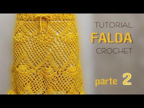 Pollera o Falda para tejer con ganchillo / Tutorial   Crochet y Dos agujas