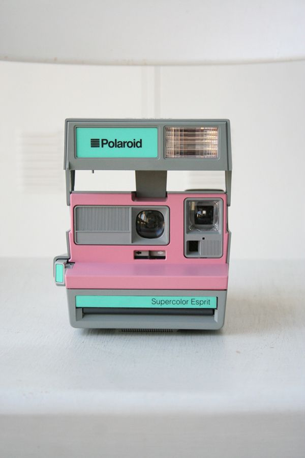 mint and pink polaroid: Vintage Camera, Stuff, Color, Wishlist, Pastel Polaroid, Things, Polaroid Cameras, Products, Photography