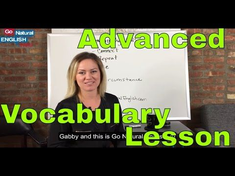 Advanced English Vocabulary Lesson - How to Memorize Long Words for Fluency - YouTube