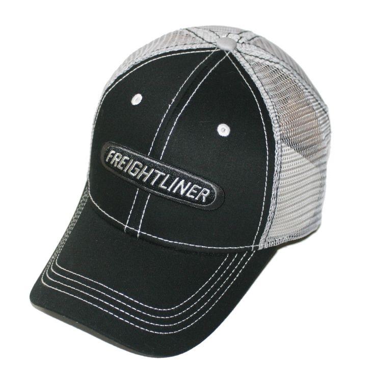 Freightliner Merchandise - Freightliner Mesh Back Black Hats - Freightliner Caps