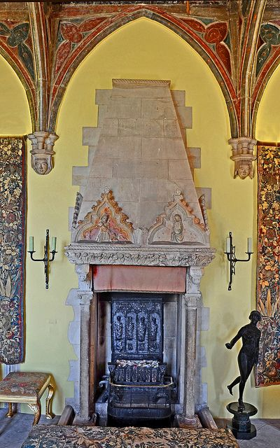medieval fireplace in the Berkeley Castle morning room.: Castles Mornings, Gothic Rooms, Berkeley Castles, Medieval Fireplaces, Mornings Rooms, Mediaev Fireplaces, Rooms Fireplaces, Captive Castles, Photo