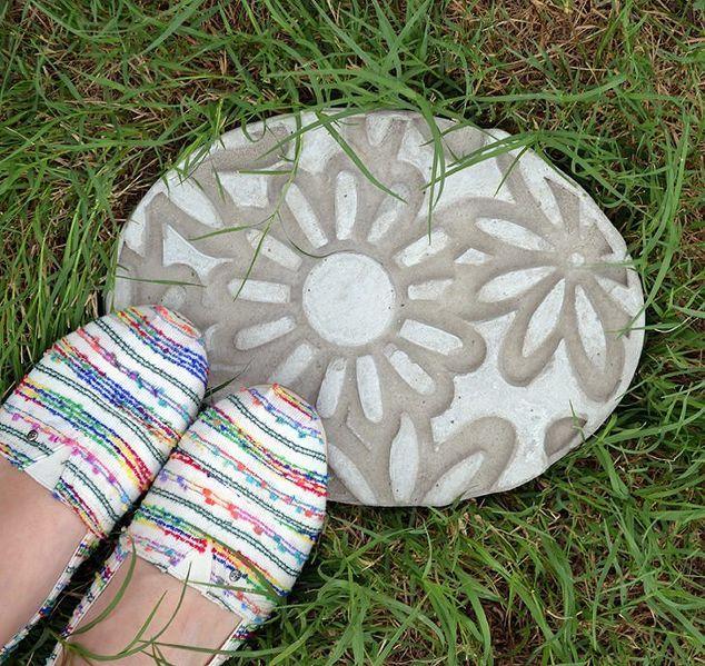 diy gaufré pierres de gué, maçonnerie en béton, de l'artisanat, le jardinage, vie en plein air