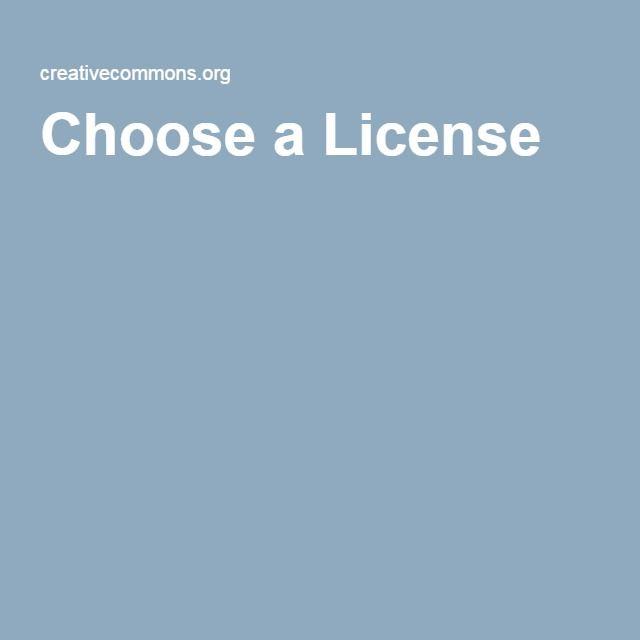 Elegir el tipo de licencia Creative Como para un contenido que estemos creando