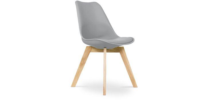 Chaise Dsw Avec Coussin Design Scandinave Inspiration Eames Polypropylene Matt Gray Dining Chairs Yellow Dining Chairs Beige Dining Chair