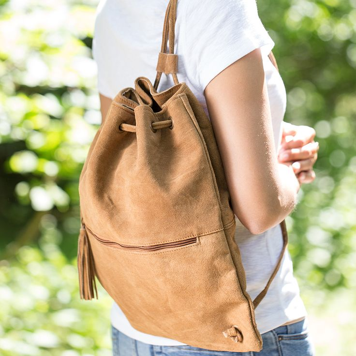 Leather rucksack by Bijou Brigitte