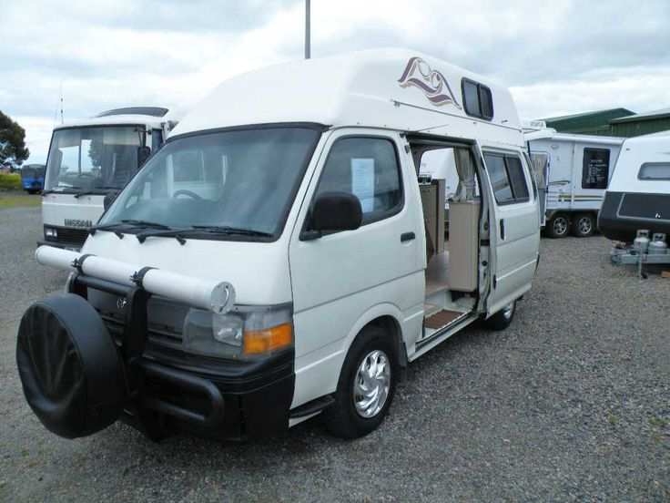 Toyota Hi-ace Hi-top campervan, 1993, 188,715kms on clock, automatic, 2 way fridge, gas cooktop, battery onboard, TV antenna, micorwave, Awning + Annexe walls, 3 seater, lounge pulls out to make a double bed. Great backpacker or weekender! Saftey Inspection and Service carried out on 10th of October. Inspection Welcome Aldinga Beach Motorhomes, 10 Lacey Drive Aldinga Beach SA 5173 PH: 08 71232612 LVD 263585 $14,999.00 AUD