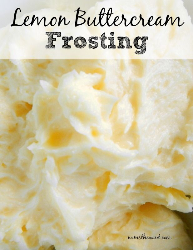 Lemon Buttercream Frosting Oh, heck to the YA!!!!