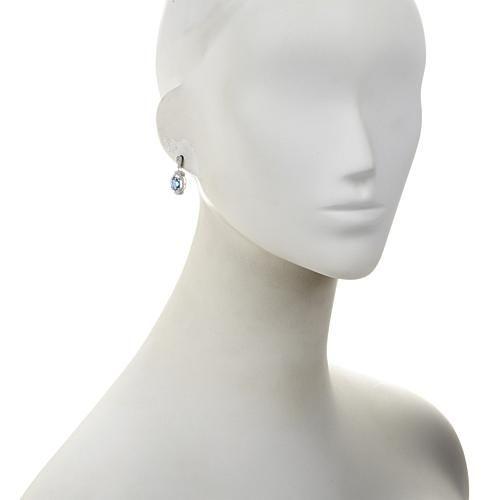 Victoria Wieck Sterling Silver Swarovski® Genuine Topaz and Absolute™ Earrings - White