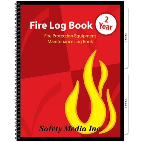 Two Year Fire Log Book, Canadian - Safety Media Inc.