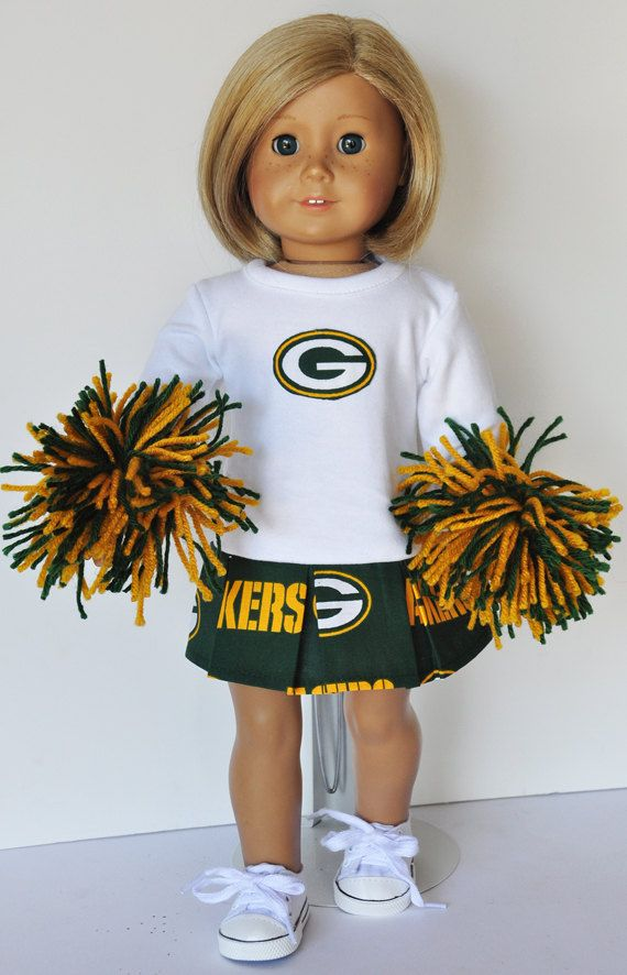 American Girl Clothes  Green Bay Packers by LoriLizGirlsandDolls, $30.00