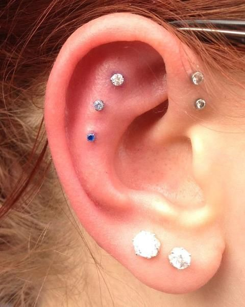 Those cartilage piercings are so cool