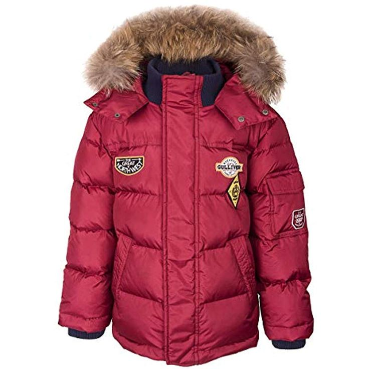 GULLIVER Kinder Junge Winter Daunen Jacke | Farbe Rot mit