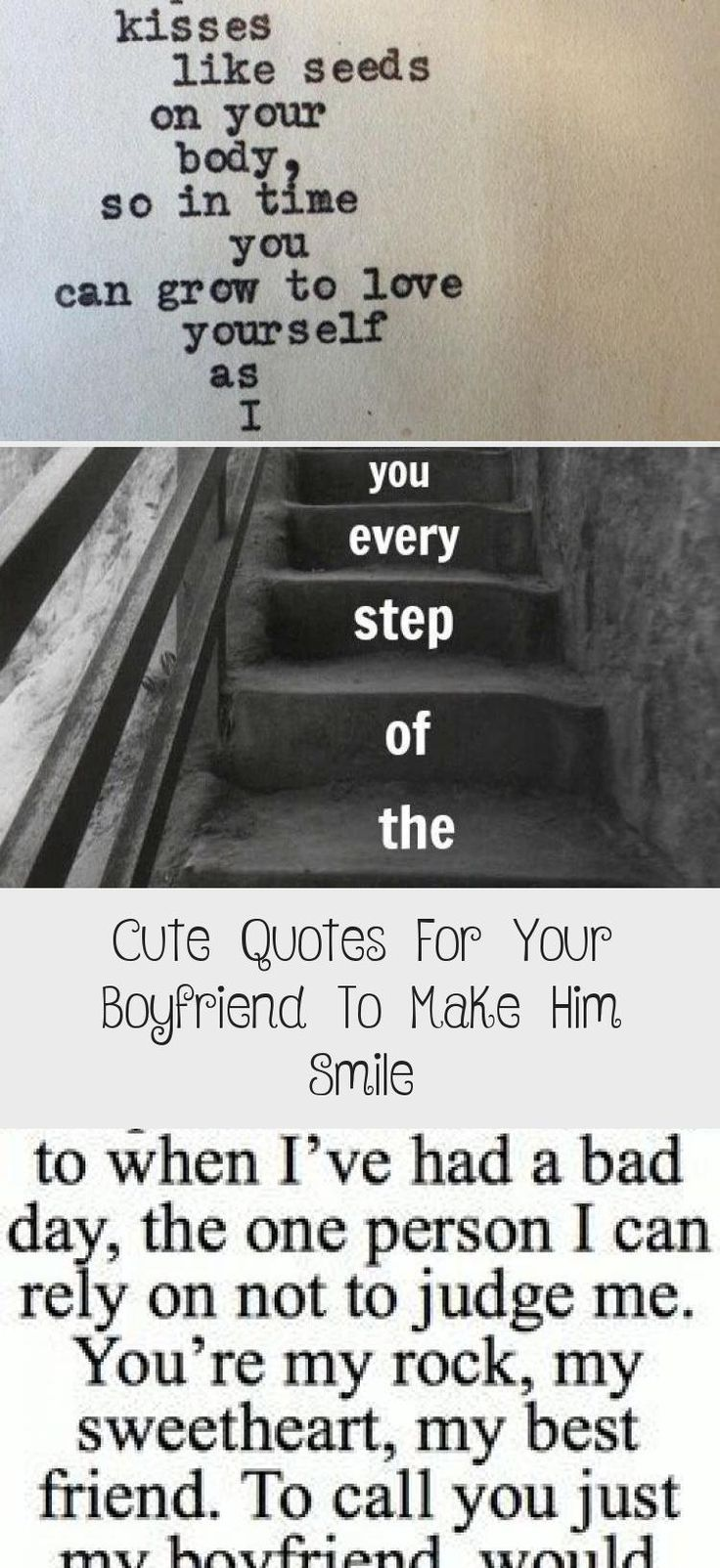 Cute quotes for your boyfriend to make him smile cute