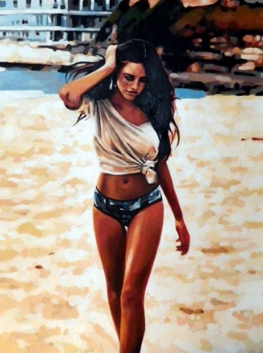 Untitled Sexy Painting | By: Thomas Saliot, via Cruzine