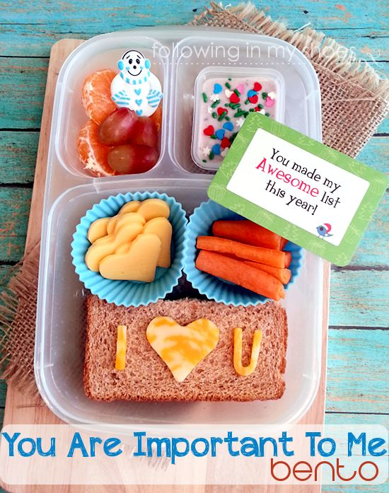"""Showing Love through Food: """"You are Important"""" #bento this is too awesome!"""