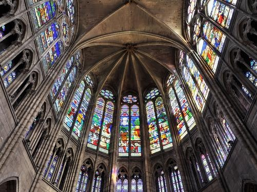 Basilique de St-Denis - Arguably the most important Gothic Church in Paris because it was the first to display the pointed arches and rib vaults known today as Gothic Architecture