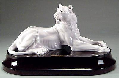 Купить Статуэтка лев белая 28 см по цене 29 840 руб. в интернет магазине AlleyPlates.ru