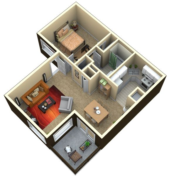 17 best images about crickentree apartments on pinterest for 650 sq ft house