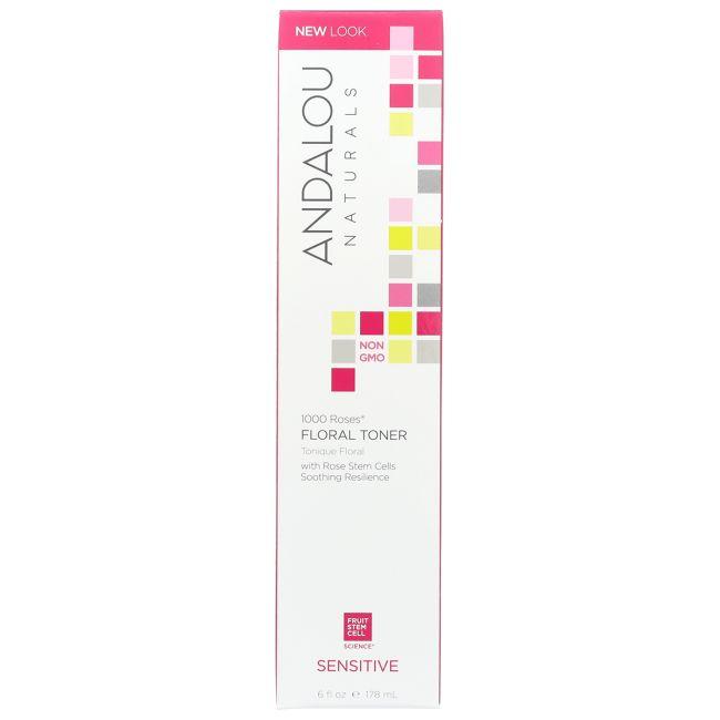 Andalou Naturals 1000 Roses Floral Toner | 6 fl oz Liquid | Skin Care