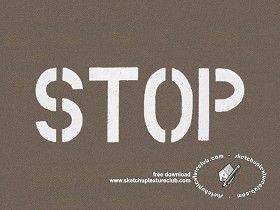 Textures Texture seamless | Road markings stop sign texture seamless 18785 | Textures - ARCHITECTURE - ROADS - Roads Markings | Sketchuptexture