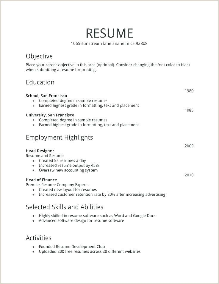 Resume Format For Job Application First Time Pdf In 2020 Job