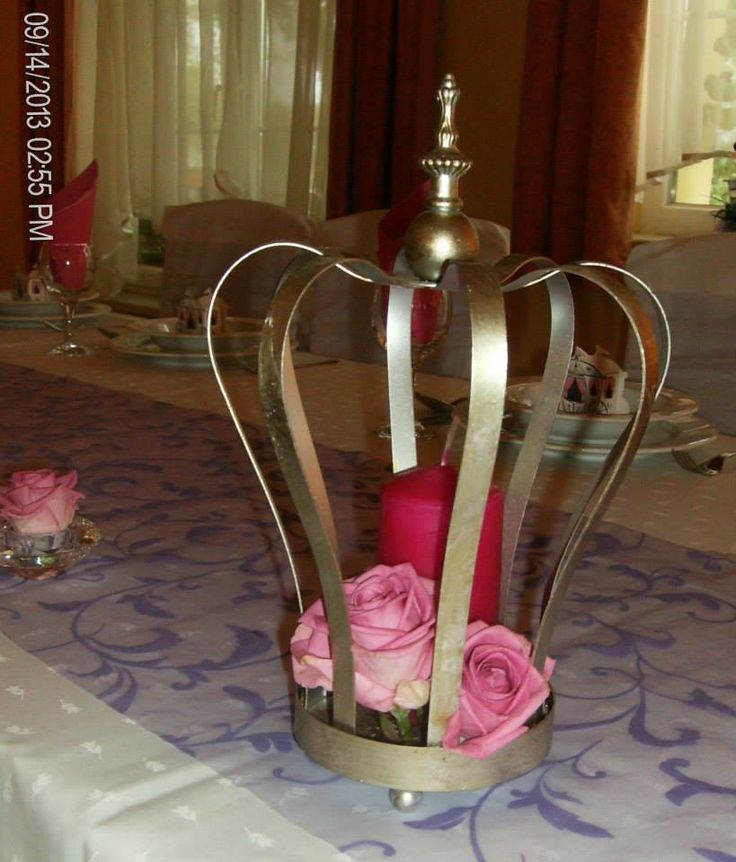 #veridekor #deco #princess #rose #crown #wedding #pinkrose #center-piece