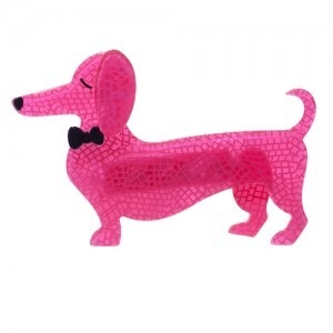 Have one to sell? Sell it yourself    Erstwilder Spiffy the Sausage Dog Brooch