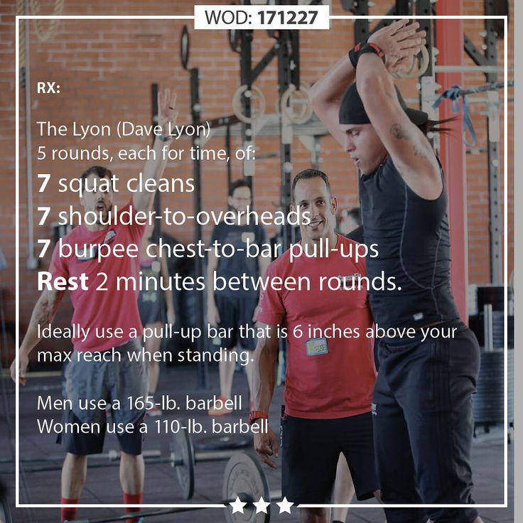 """1,285 Likes, 12 Comments - CrossFit Training Department (@crossfittraining) on Instagram: """"WODScale WEDNESDAY 171227 … The Lyon (Dave Lyon) 5 rounds, each for time, of: 7 squat cleans 7…"""""""