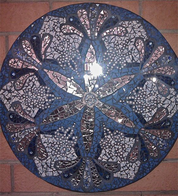 Flower of Life with Merkabah by Tanja Hawker Mosaics