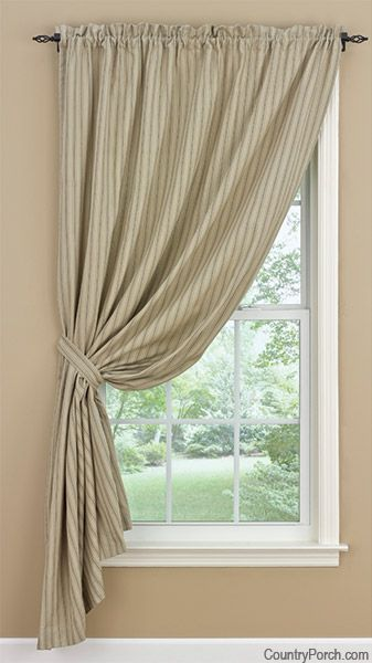 Millstone Lined Single Tieback Curtain Panel Natural