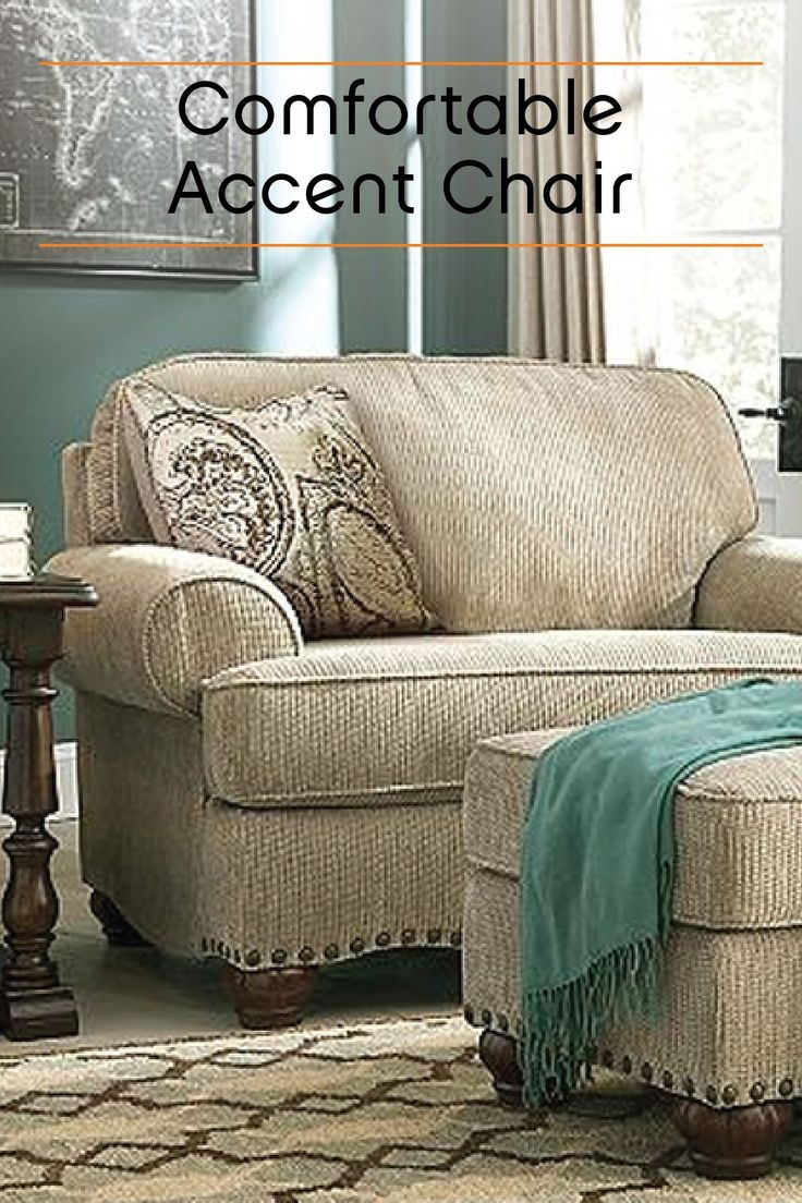 This oversized accent chair is a roomy and stylish way to complete your living room décor. The comfortable and neutral design makes it the perfect place to cuddle up and relax all evening.