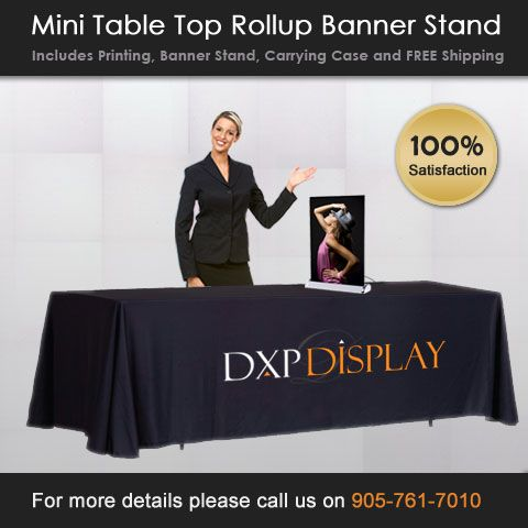 Banner Stand Features:  • Quick to assemble and easy to use  • Lightweight and convenient to travel with  • Sturdy aluminum frame for longer life span  • Retractable base stores and protects graphics  • Foot levelers ensure the stability of the display  • Poster replacements available to update graphics