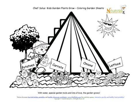 Chef Solus Garden Grows Coloring Sheet Printable