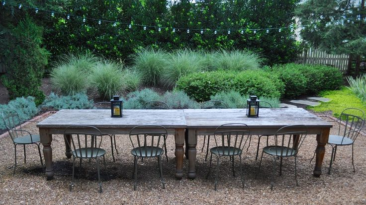 Outdoor dining lighting ideas for patio rustic design for Outdoor table decor ideas