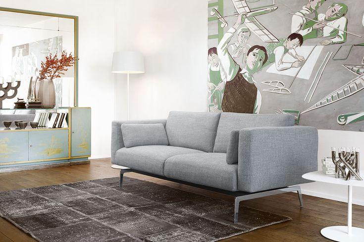 Ein zeitloses, cleveres, solides Sofa.