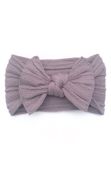 Baby Bling Cable Knit Bow Headband (Baby Girls) available at #Nordstrom