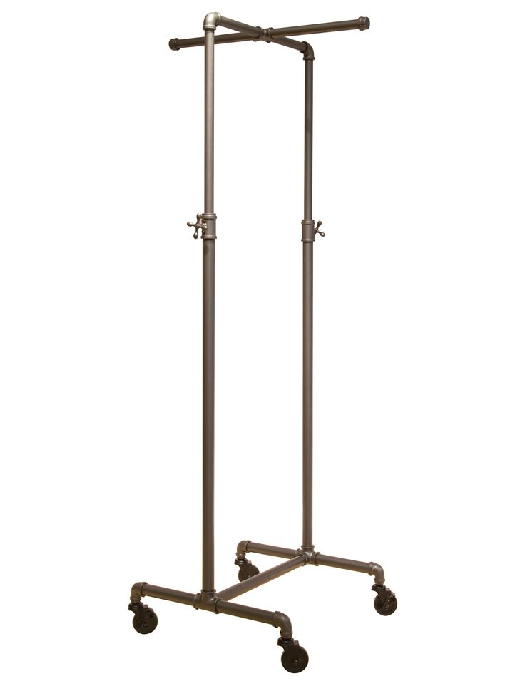 Just found this at #TheShopCompany - Coal Grey Single Rail Pipeline Collection Rolling Clothing Rack (w/ cross bar; small size)