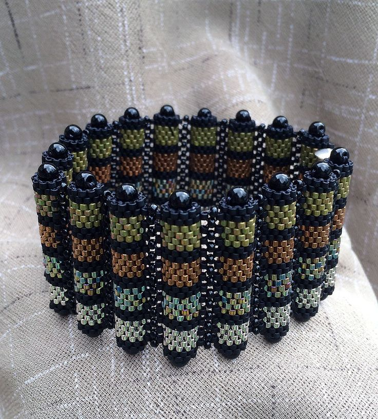 Painted Bamboo Cuff Bracelet - Bead&Button Show