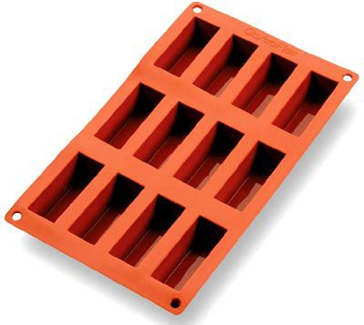 Gastroflex Silicone Mould - 12 Mini Loaf Cakes GN 1/3 ...